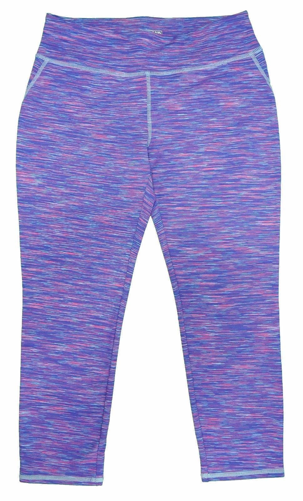 Kirkland Signature Girls Capri Leggings, Purple/Light Blue/Pink