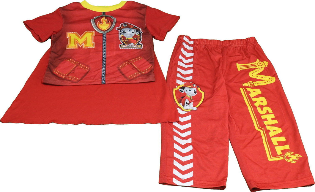 Nickelodeon Paw Patrol Boys 3-Piece Pajama Set With Cape, Red