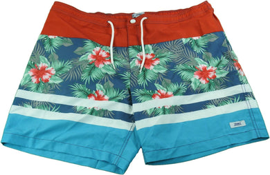 Trunks Surf & Swim Co. Men's Size 40 Beach & Street Swim Trunks, Hawaiian Red