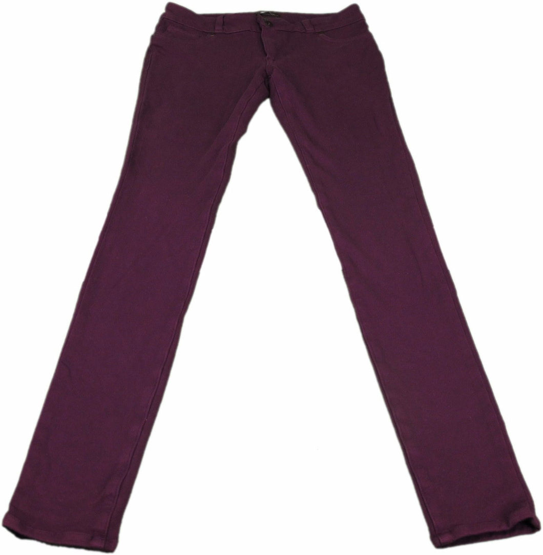 Research Development Ladies Size X-Small Skinny Jeans, Plum