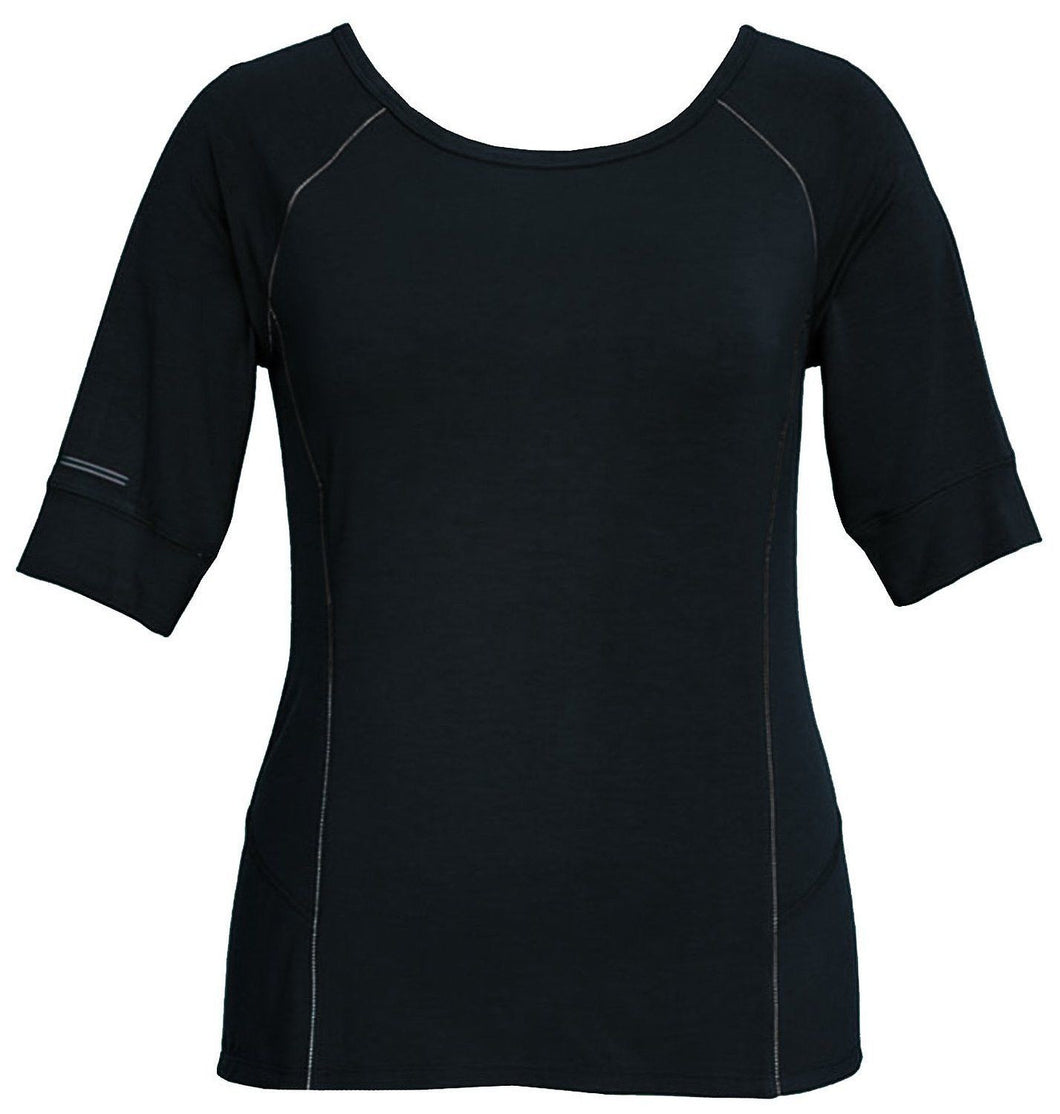Tangerine Women's Size Small Modal Blend Reflective Active Shirt, Black