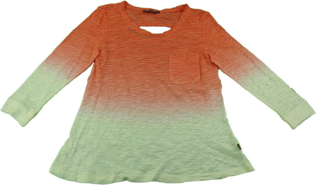 Z by Zobha Ladies Size X-Large 3/4 Sleeves Lightweight Knit Top, Hot Coral