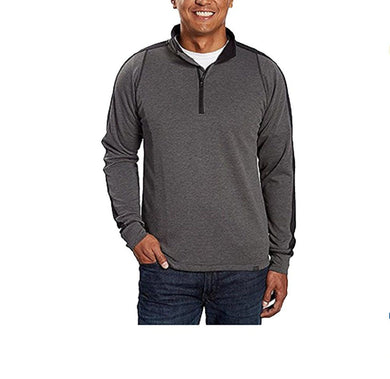Hawke & Co. Mens Size Medium Long Sleeve1/4 Zip Pullover Sport Sweater, Grey Htr