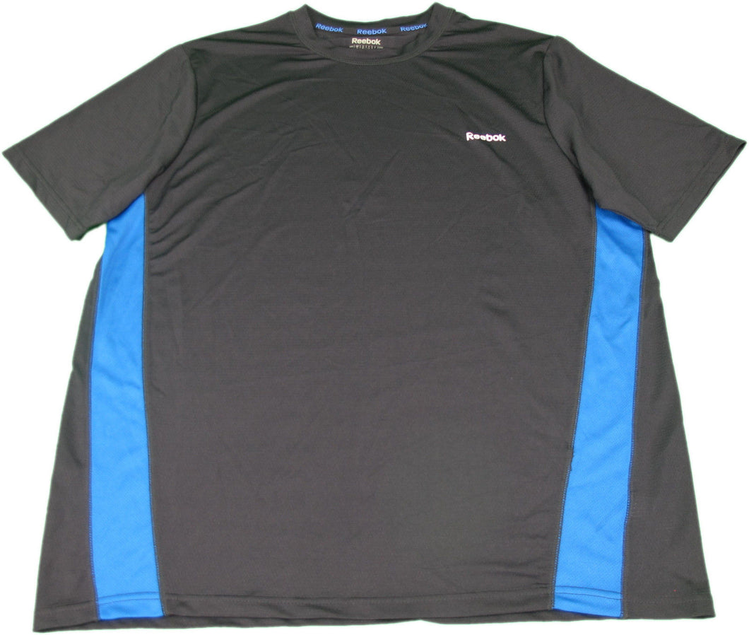 Reebok Men's Size Medium Short Sleeve Hydromove Mesh Shirt, Black/Blue