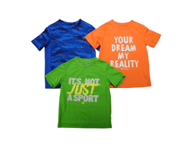 (3-Pack) Champion Boys Size 4 Short Sleeve T-Shirts, Assorted
