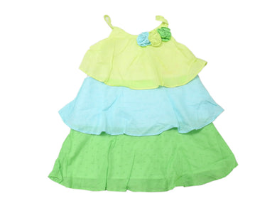 Penelope Mack Girls Size 2T (Toddler) Cotton Summer Beach Strap Dress, Lime