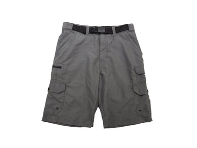 Denali Mens Stretch Lightweight Hybrid Belted Multi-Pockets Cargo Classic Shorts