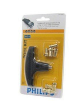 (Lot of 2) Phillips (SWV1040/17) Coax Connector Install + Remove Tool Kit