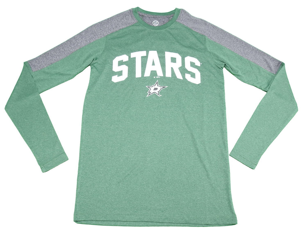 Dallas Stars NHL Men's Size Small Long Sleeve T-Shirt, Green/Grey