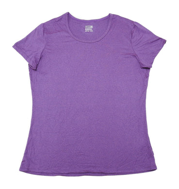 32° Degrees Cool Womens Size Large Short Sleeve Scoop Neck Tee, Heather Purple