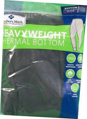 Member's Mark Men's 2X-Large Heavyweight Thermal Bottom, Black