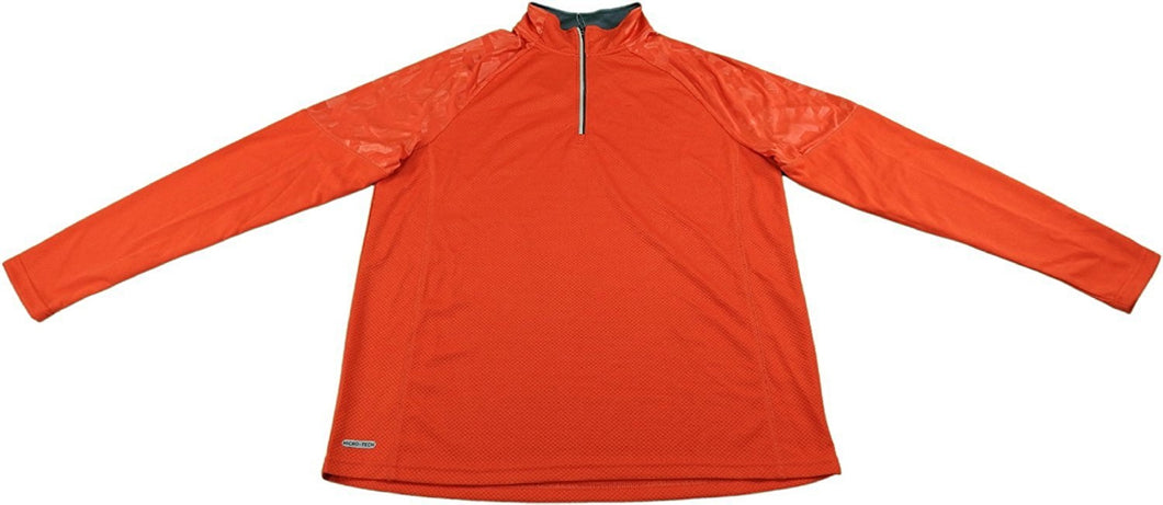 Free Country Men's Size Large Endurance 1/4 Zip Pullover, Tango Red