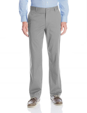 Dockers Mens Comfort Waist Straight Fit Flat-Front Pant, Wash Khaki Grey
