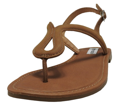 Steve Madden Womens Leather Kary Sandals, Tan