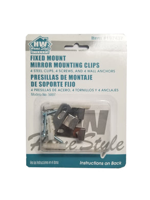 (Lot of 7) Home Style (197437) Fixed Mount Mirror Mounting Clips