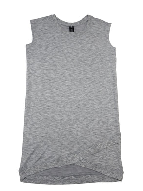 Active Life Womens Sleeveless Modal Soft Active Dress, Marl Heather Grey