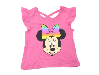 Disney Junior Toddler Girls Size 3T Ruffle Sleeve Minnie Mouse Top, Pink