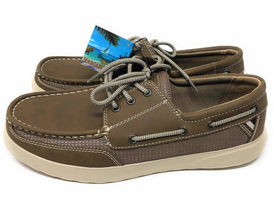 Margaritaville Mens Lightweight Comfort Lace-Up Boat Shoes, Palm