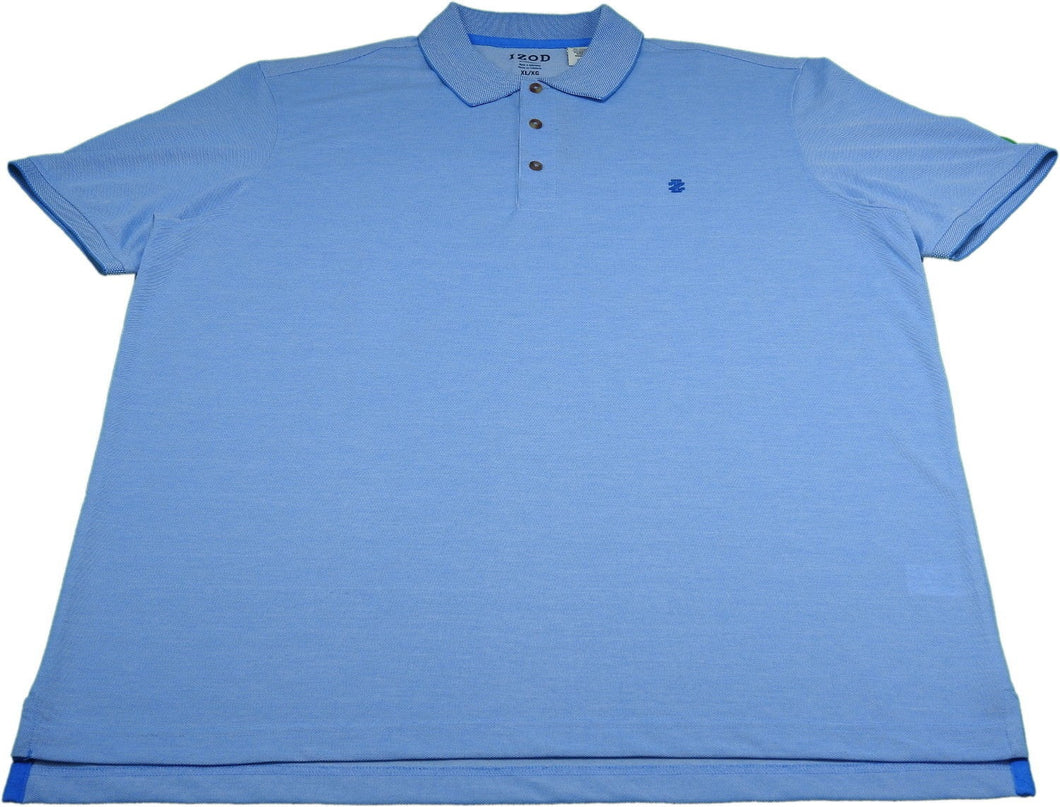 IZOD Mens Size X-Large Performance SS Polo Shirt, Blue Revival