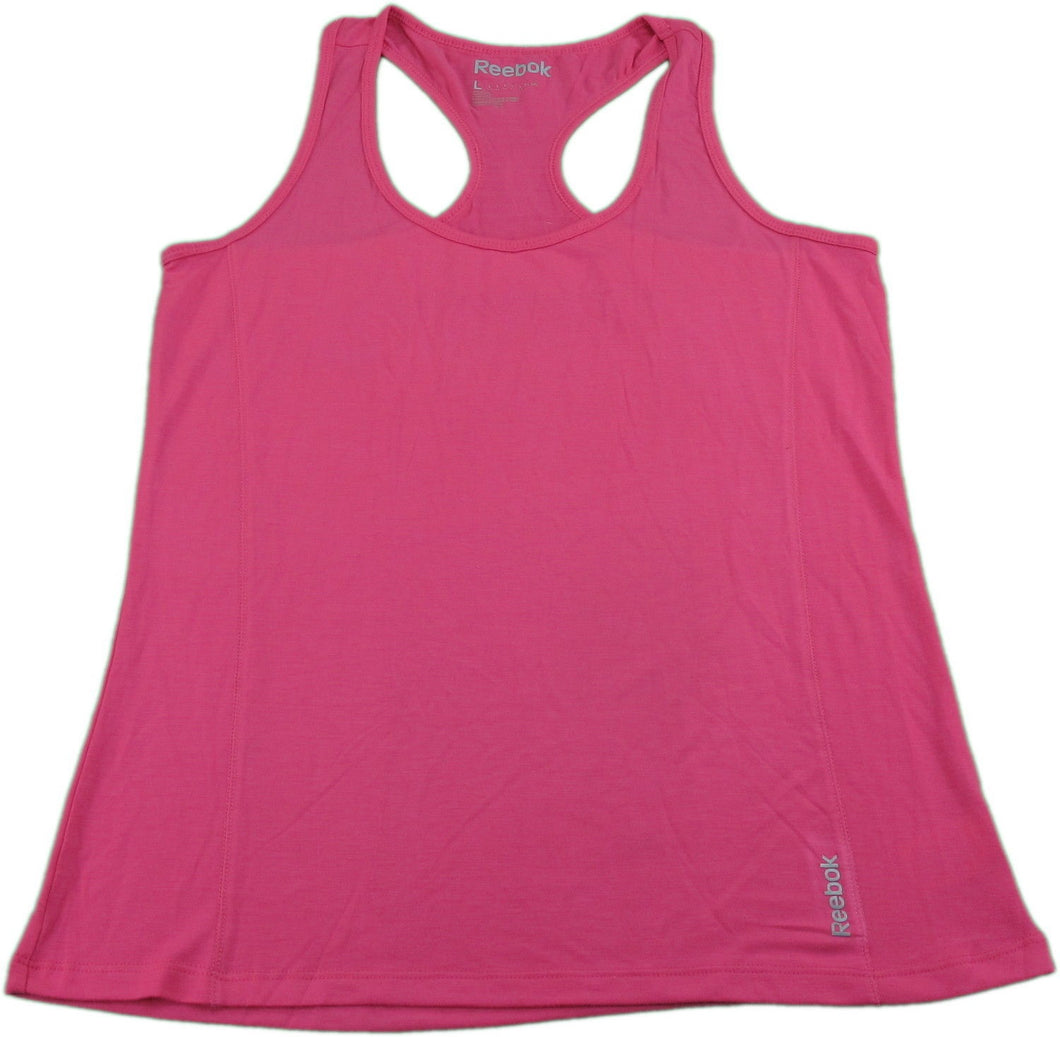 Reebok Womens Size Large Relaxed Fit Ultra Soft Tank Top, Pink