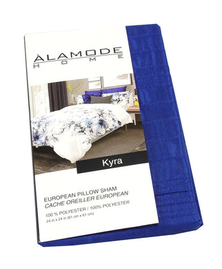 Alamode Home Kyra (24in x 24in) Euro Pillow Sham, Blue