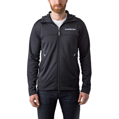 Karbon Men's Full Zip Jacket w/Hood, Black