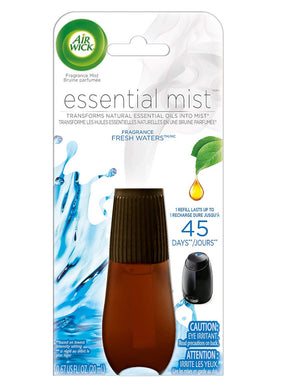 (Lot Of 6) Air Wick Essential Oils Diffuser Mist Refill, Fresh Water Breeze
