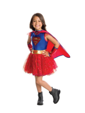 Rubie's Costume Girls Size Medium 8-10 Supergirl Tutu Dress Halloween Costume