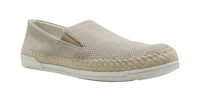 Trivict Womens US Shoe Size 7.5 Slip-On Alyssa Sneaker, Dark Off White/Beige