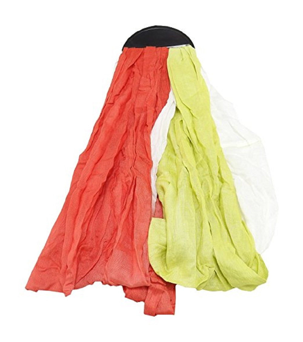 Wrapsody In Hues Twice The Fun 2-For-1 Dip Dye Scarf Set, Red/White/Green