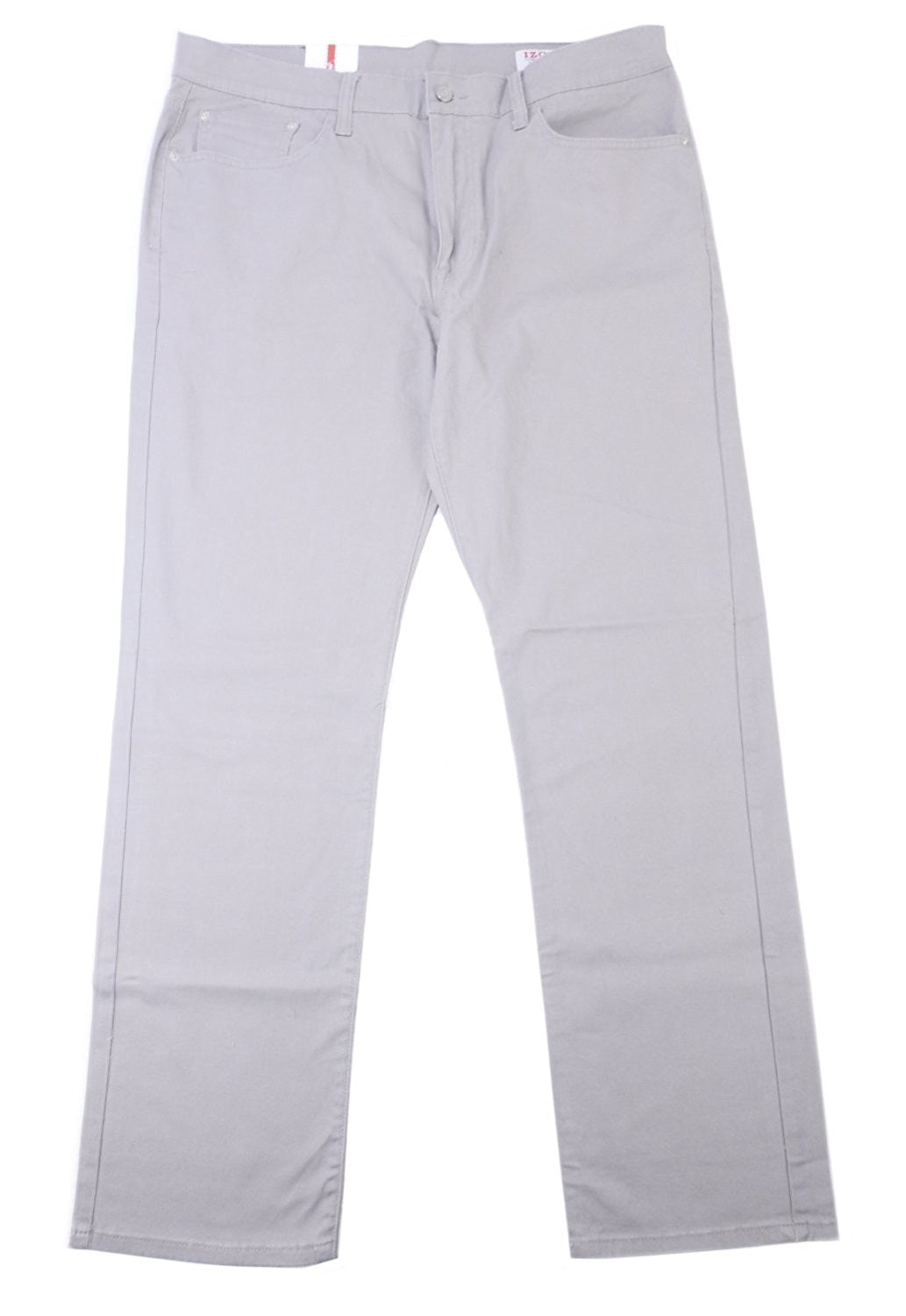 IZOD Men's Size 34 x 30 Straight Fit Comfort Stretch Pant, Alloy Light