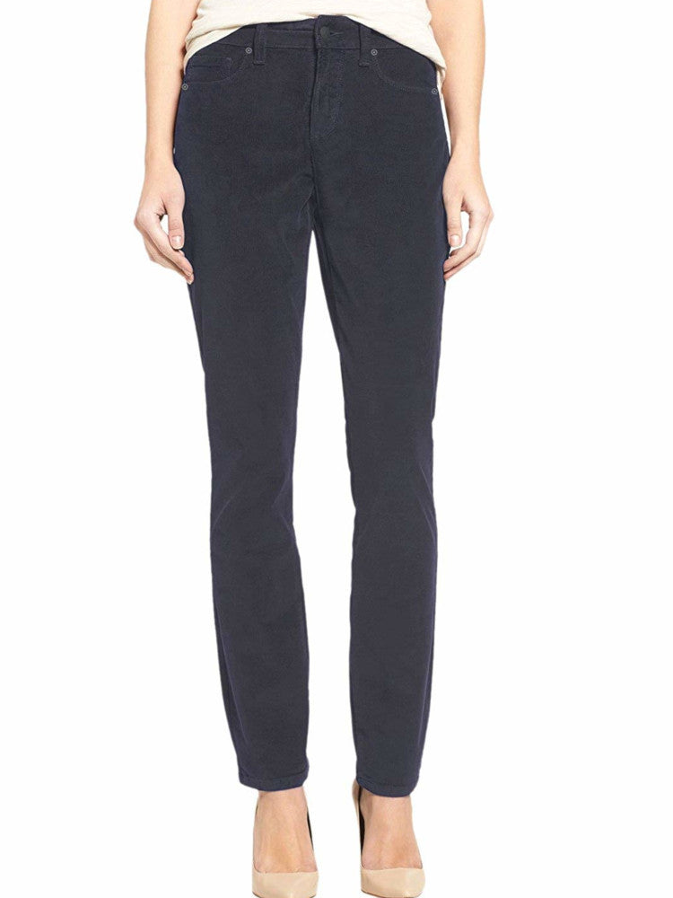 Buffalo David Bitton Womens Size 2 /26 Mid-Rise Skinny Corduroy Pants, Charcoal