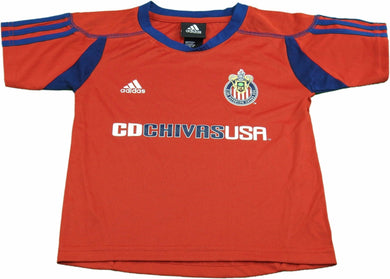 Adidas Kids Size Small (4) MLS Club Deportivo Chivas Soccer Jersey, Red