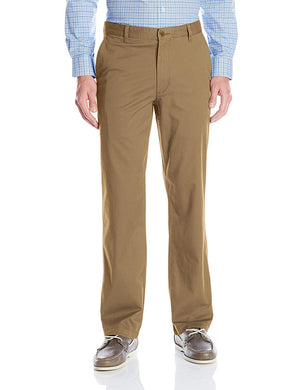 Dockers Mens Comfort Waist Straight Fit Flat-Front Pant, Wash Khaki