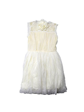 Popatu Girls Size 6X/7 Sleeveless w/Headband Dress, Ivory/White
