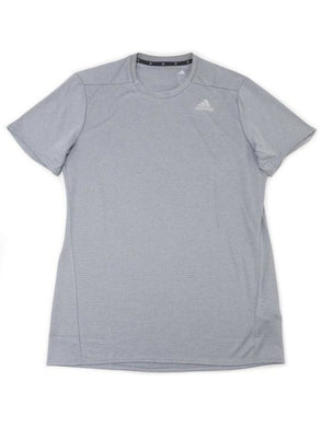 Adidas Mens Size Large Short Sleeve Active Performance Climalite Shirt, Grey
