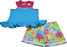 Emily Rose Girls 2-Piece Shorts & Sleeveless Shirt Set, Turquoise
