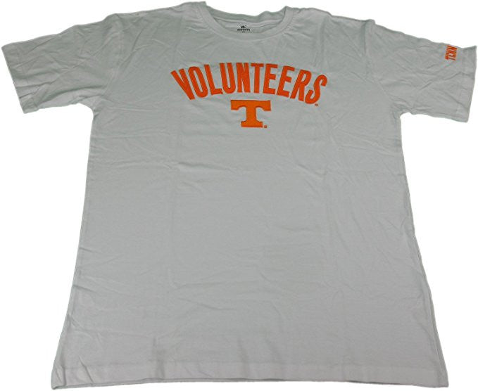 Knights Apparel Men's X-Large Embroidery Tennessee Volunteers T-Shirt, White