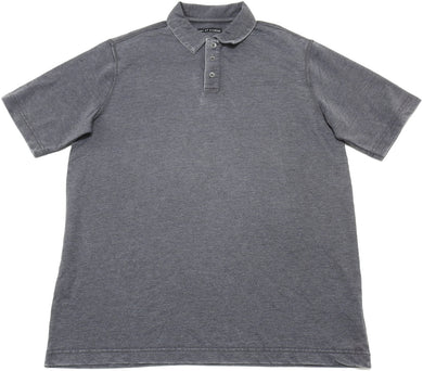 Age of Wisdom Mens Size Small Short Sleeve Polo Shirt, Grey