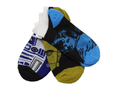 (5-Packs) Star Wars Boys Size (6-8) 3-Pairs Ankle Socks, Multi-Color