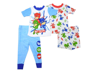 AME PJ Masks Baby Boys Size 18 Months 2-Cotton Pajama Sets, Blue/Red/Green