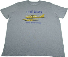 "Eddie Bauer Mens ""Original Outdoor Outfitters"" Graphic T-Shirt, Heather Grey Plane"