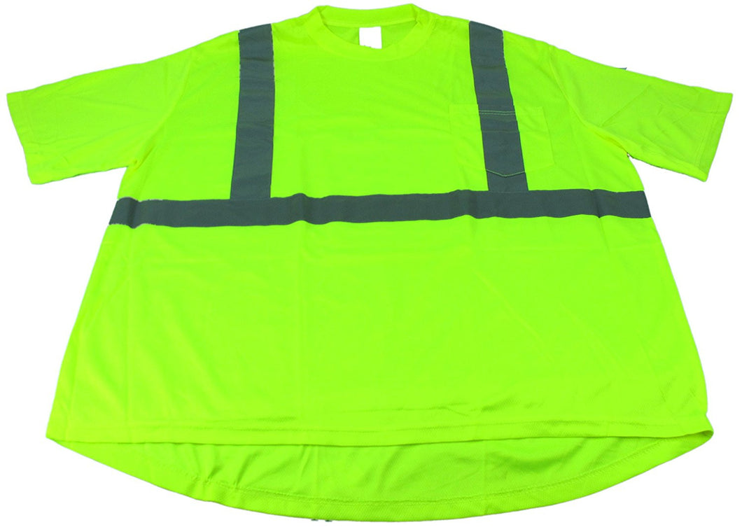 Jackson Safety 2X-Large 3024370 Short Sleeve High Visibility T-Shirt, Lime
