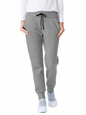32 Degrees Heat Womens Size X-Large Active Fleece Tech Jogger Pant, Grey