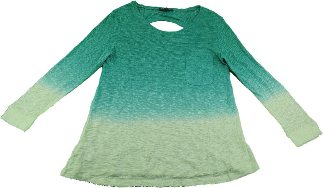 Z by Zobha Ladies 3/4 Sleeves Lightweight Knit Top, Teal Green