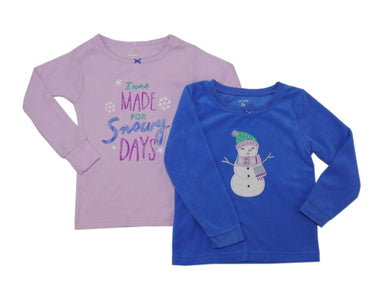 Carter's Baby Girls 2-Pack Long Sleeve Pajama Sleep Shirts, Assorted