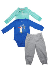 Carter's Baby Boys 3-Piece Long Sleeve Bodysuits & Pant Sets, Assorted