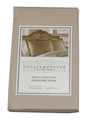 Palais Royale Egyptian Cotton Sateen (630 ct.) 1-Standard Sham, Solid/Canvas