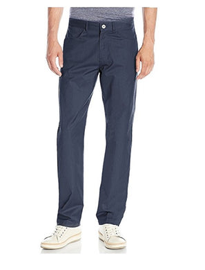 Calvin Klein Mens Textured Twill Straight Fit Pants, 475 Dress Blues