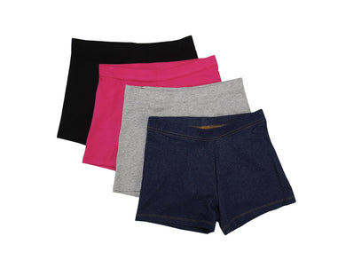 Members Mark 4-Pack Girls Size 10/12 Cart Wheel Shorts, Assorted